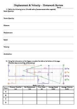 Displacement & Velocity - Homework Review