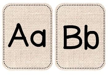 Display Alphabet Posters Natural Burlap