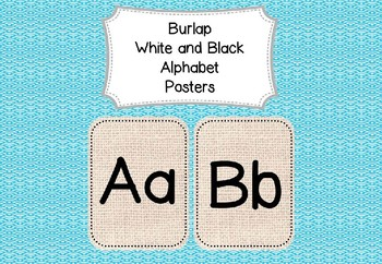 Display Alphabet Posters Natural Burlap