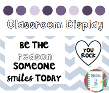Display: Be The Reason Someone Smiles Today *FREEBIE*