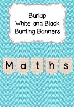 Display Bunting Banner Natural Burlap