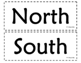Display Cardinal Directions: North, South, East, West
