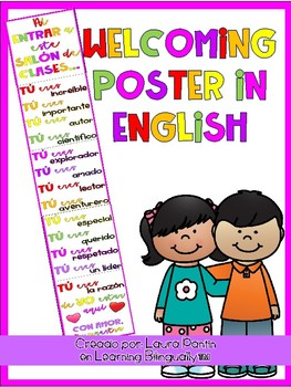 Display Classroom Poster in ENGLISH