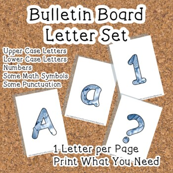 Printable display bulletin letters numbers and more: Water Splash