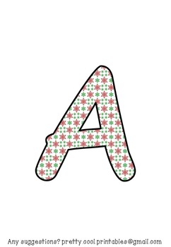 Printable display bulletin letters numbers and more: Christmas Snowflake
