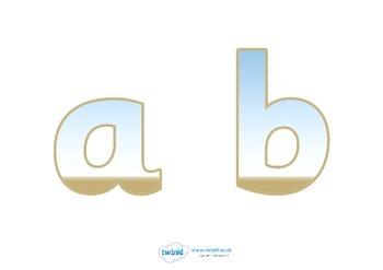 Display Lettering & Symbols (Seaside)