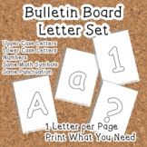 Printable display bulletin letters numbers and more: White Blank Solid