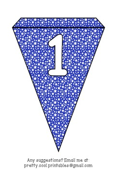 Printable bunting display bulletin letters numbers and more: America Star