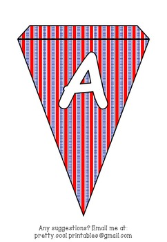 Printable bunting display bulletin letters numbers and more: America July
