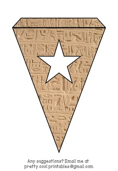 Printable bunting display bulletin letters numbers and more: Ancient Egypt