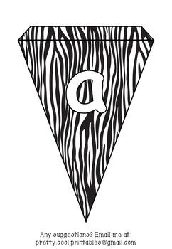Printable bunting display bulletin letters numbers and more: Animal Print
