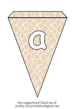 Printable bunting display bulletin letters numbers and more: Animal Print