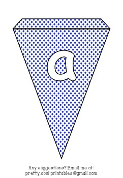 Printable bunting display bulletin letters numbers and more: Blue Dot