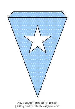 Printable bunting display bulletin letters numbers and more: Blue Heart