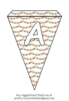 Printable bunting display bulletin letters numbers and more: Christmas Lights