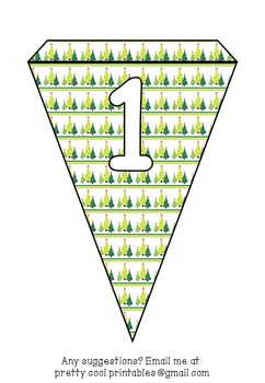 Printable bunting display bulletin letters numbers and more: Christmas Snow