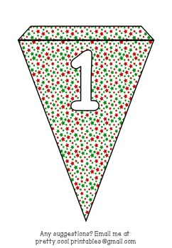 Printable bunting display bulletin letters numbers and more: Christmas Stars