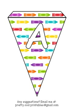 Printable bunting display bulletin letters numbers and more: Crayon School