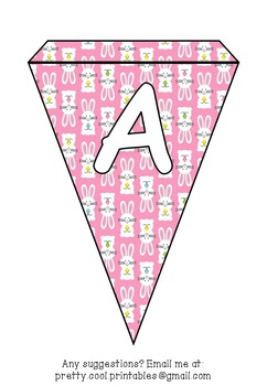 Printable bunting display bulletin letters numbers and more: Easter Bunny