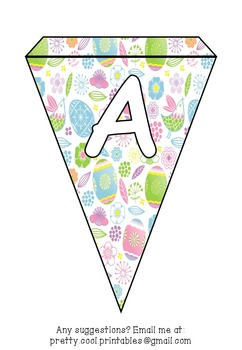 Printable bunting display bulletin letters numbers and more: Easter Egg