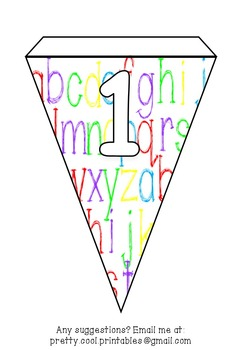 Printable bunting display bulletin letters numbers and more: School