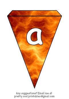 Printable bunting display bulletin letters numbers and more: Fire