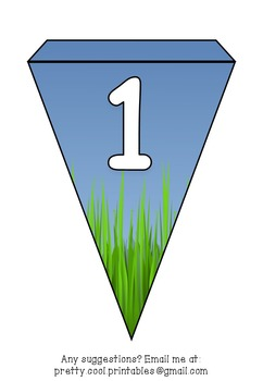 Printable bunting display bulletin letters numbers and more: Grass