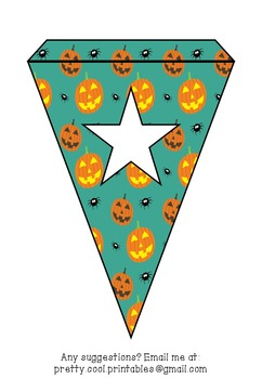 Printable bunting display bulletin letters numbers and more: Halloween