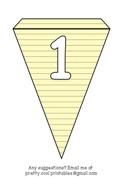 Printable bunting display bulletin letters numbers and more: Lined Paper
