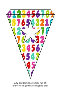 Printable bunting display bulletin letters numbers and more: Math School