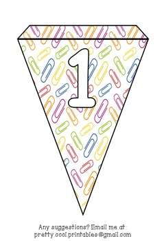Printable bunting display bulletin letters numbers and more: Clip School