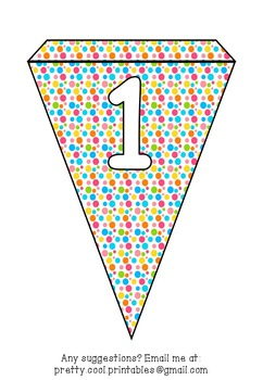 Printable bunting display bulletin letters numbers and more: Rainbow Dot