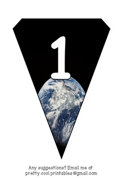 Printable bunting display bulletin letters numbers and more: Science Earth