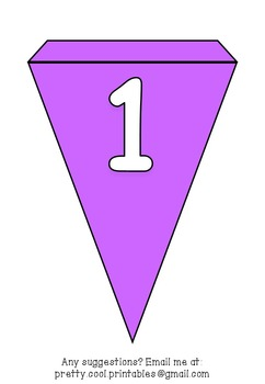 Printable bunting display bulletin letters numbers and more: Solid Purple