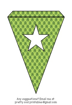 Printable bunting display bulletin letters numbers and more: St Patrick