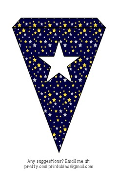 Printable bunting display bulletin letters numbers and more: Stars