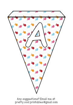 Printable bunting display bulletin letters numbers and more: Summer
