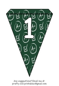 Printable bunting display bulletin letters numbers and more: Tick School