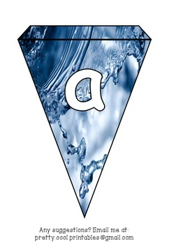 Printable bunting display bulletin letters numbers and more: Water