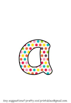 Printable display bulletin letters numbers and more: Dots Dotty