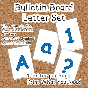 Printable display bulletin letters numbers and more: Solid Blue