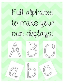 Display Letters - Full Alphabet