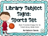 Library Subject Signs for Sports Displays