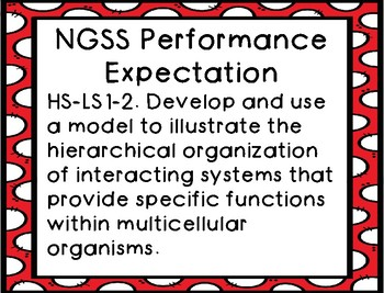 Display NGSS HSLS Performance Expectations