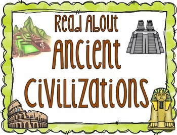 Subject Signs for Library Displays: Ancient History Set