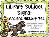 Library Subject Signs for Ancient History Displays