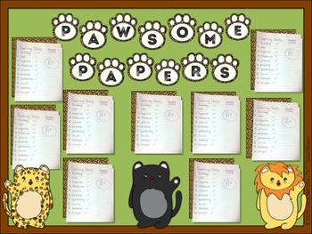 Student Work Bulletin Board-Cute Big Cats