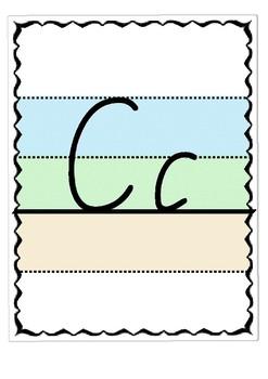 Display alphabet in Victorian Cursive