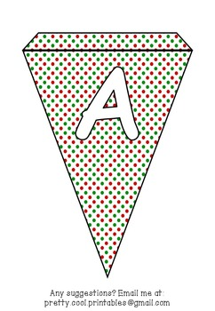 Printable bunting display bulletin letters numbers and more: Christmas Dots