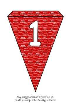 Printable bunting display bulletin letters numbers and more: Merry Christmas